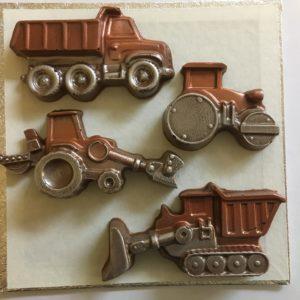 Tractors, Digger, Dumper Truck Milk Chocolate