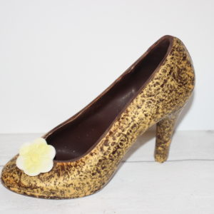 Gold Dark Chocolate High Heel Shoe