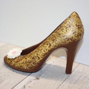 Gold Dark Chocolate High Heel Shoe